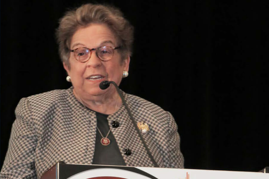 U.S. Congresswoman Donna E. Shalala at the 2019 Santa Fe Group Salon Podium