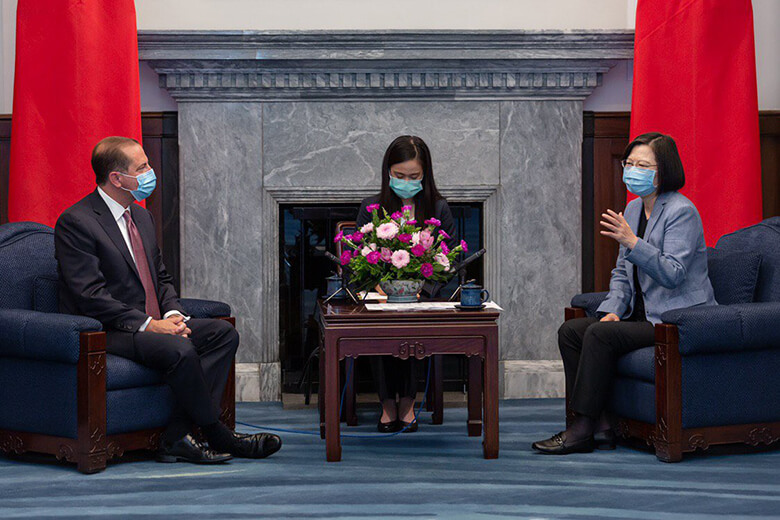 HHS Secretary Azar Meets with President Tsai of Taiwan and Praises Taiwan's Transparent COVID-19 Response